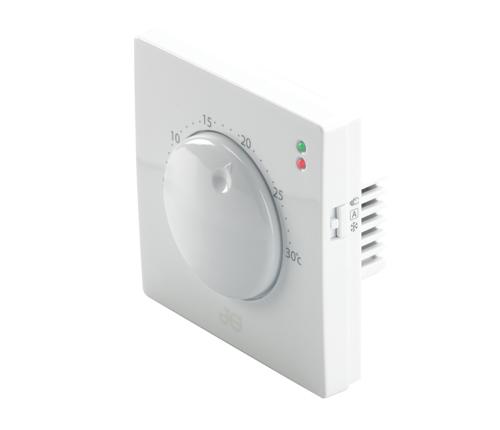 Speedfit Aura 230V Dial Thermostat White - JGFSTAT1