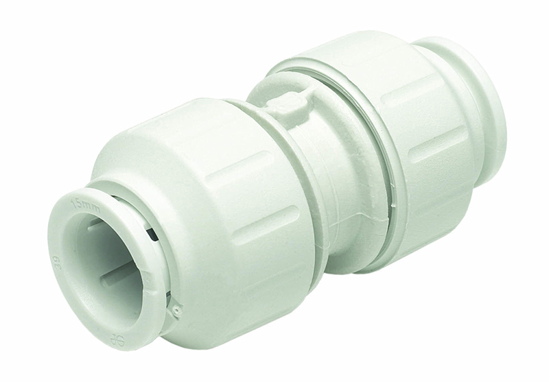 SPEEDFIT 10MM EQUAL STRAIGHT CONNECTOR WHITE PEM0410W