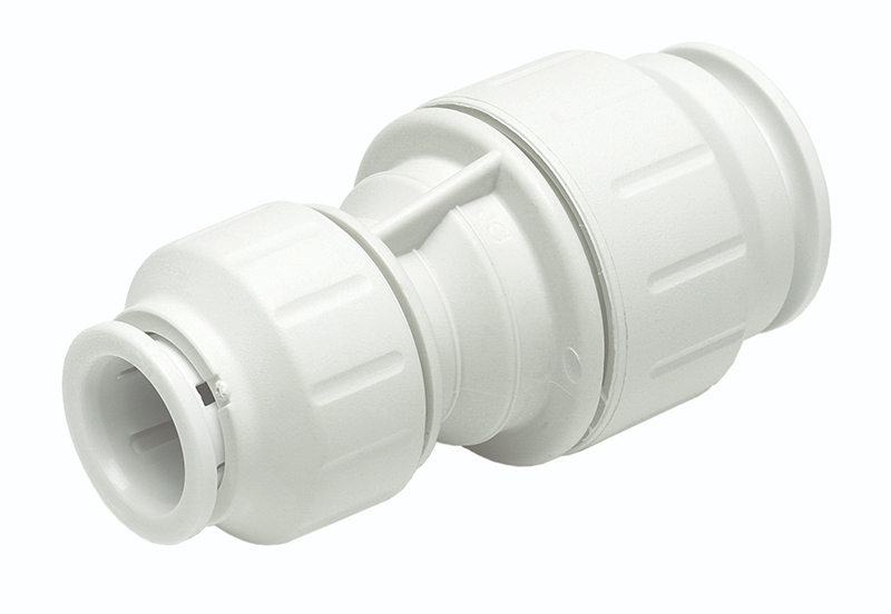 SPEEDFIT 15 X 10MM REDUCING STRAIGHT COUPLER WHITE PEM201510W
