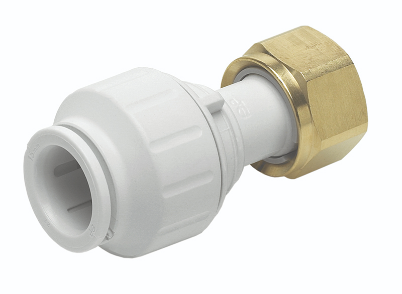 "SPEEDFIT 15MM X 1/2"" STRAIGHT TAP CONNECTOR WHITE PEMSTC1514"