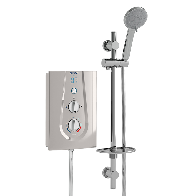 Bristan Joy Thermostatic Electric Shower 8.5kW Matt Silver