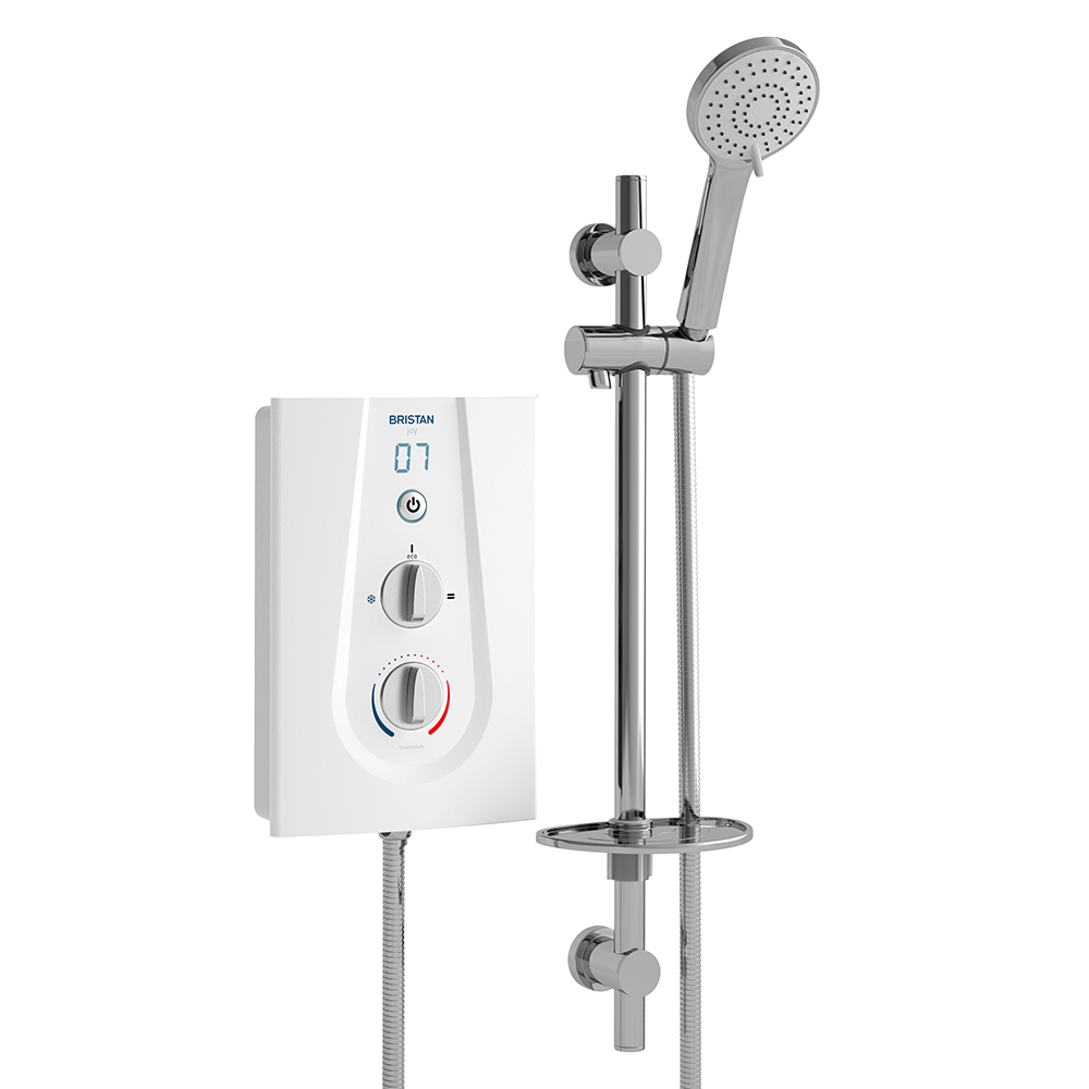 Bristan Joy Thermostatic Electric Shower 8.5kW White