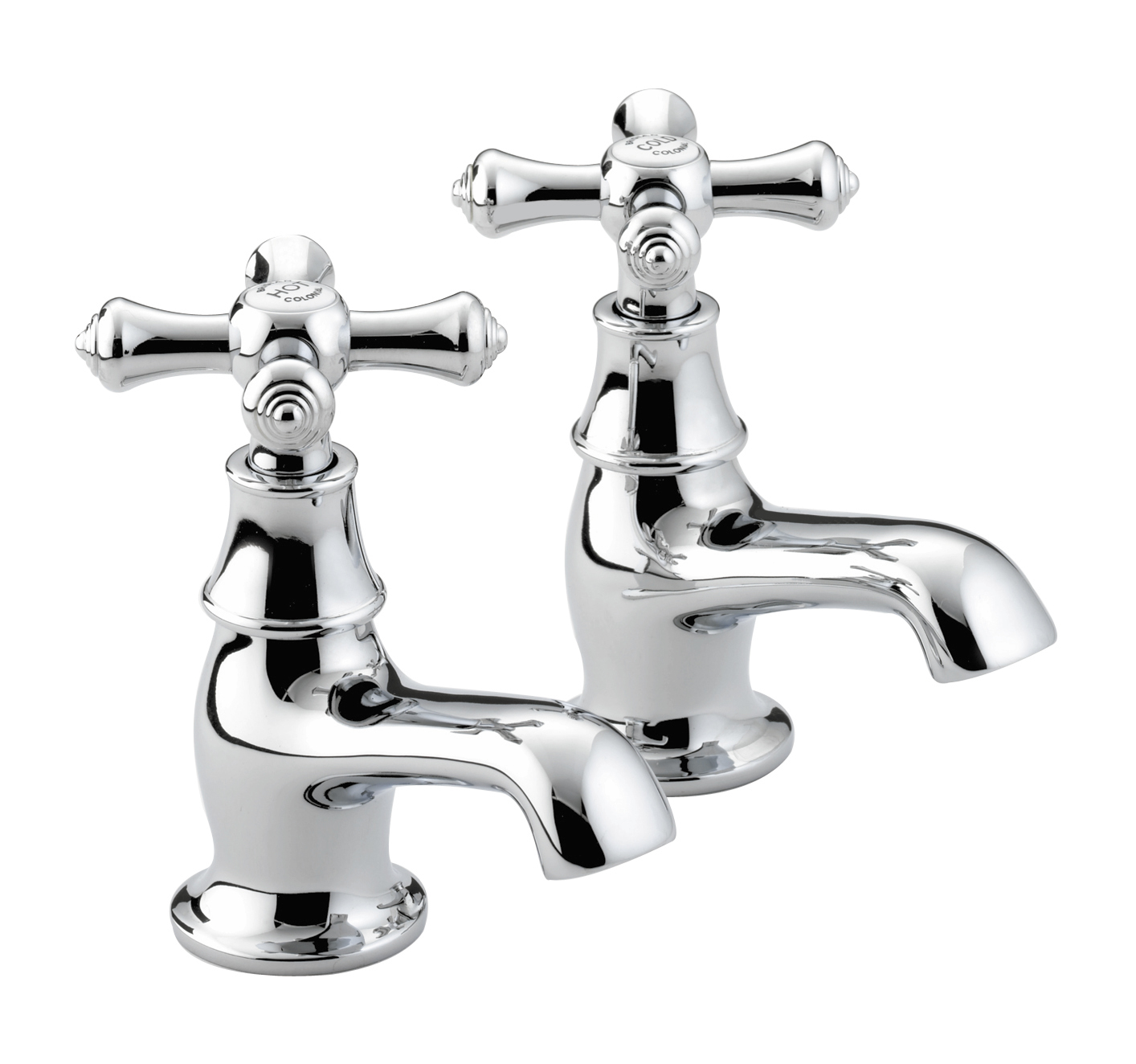 BRISTAN COLONIAL BASIN TAPS CHROME PLATED