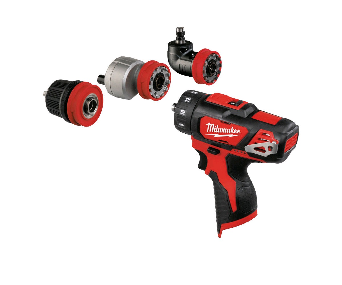 Milwaukee M12BDDX 12V Sub Compact Drill Driver With Removable Chuck and 3 Different Heads - Body Only