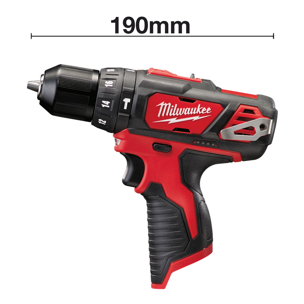 MILWAUKEE 12V BRUSHED PERCUSSION COMBI DRILL - M12BPD - BODY ONLY