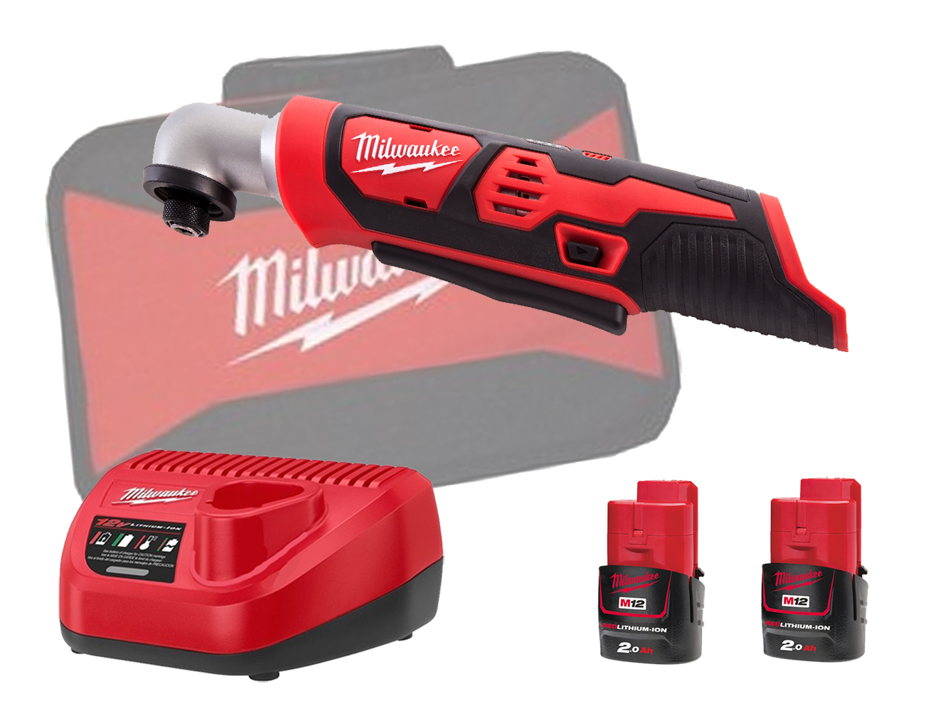 MILWAUKEE 12V BRUSHED RIGHT ANGLE IMPACT - M12BRAID - 2.0AH PACK