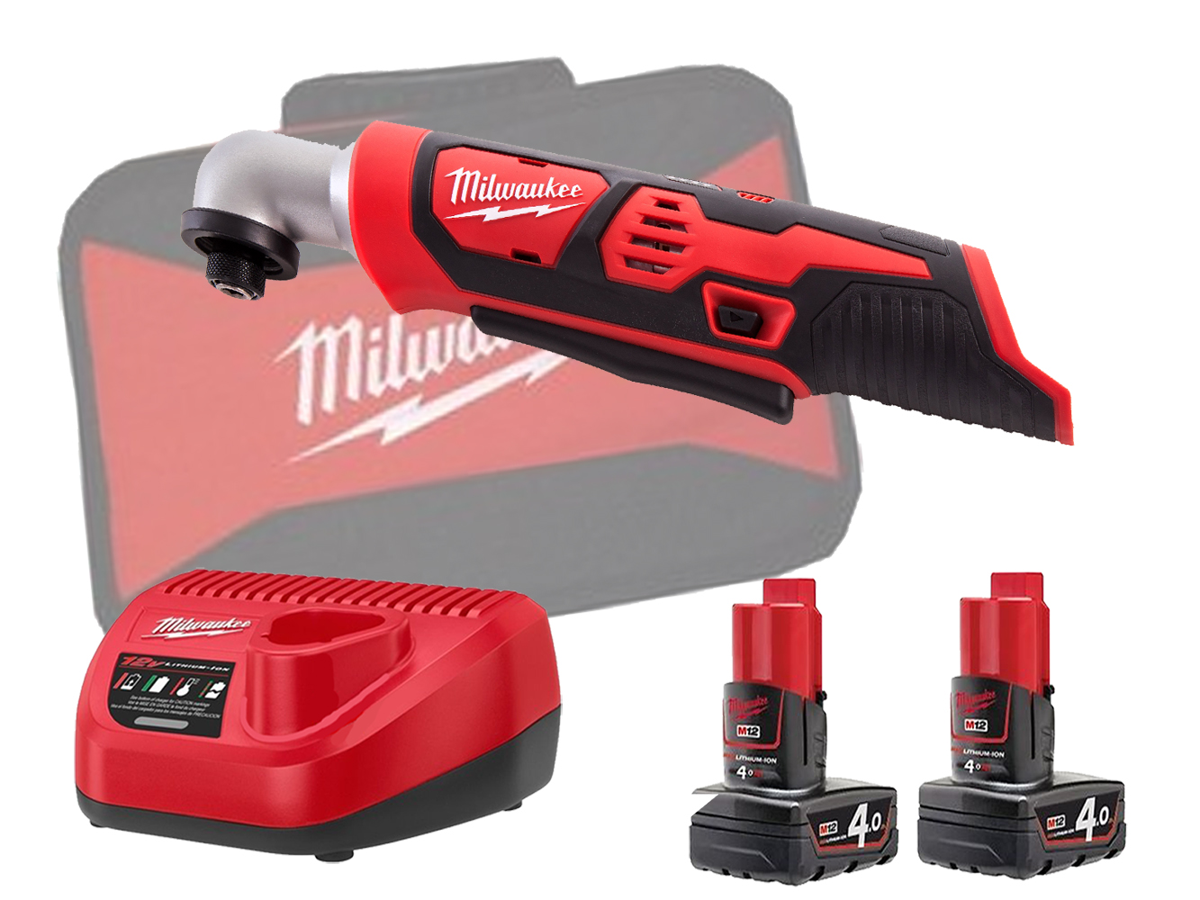 MILWAUKEE 12V RIGHT ANGLE IMPACT - M12BRAID - 4.0AH PACK