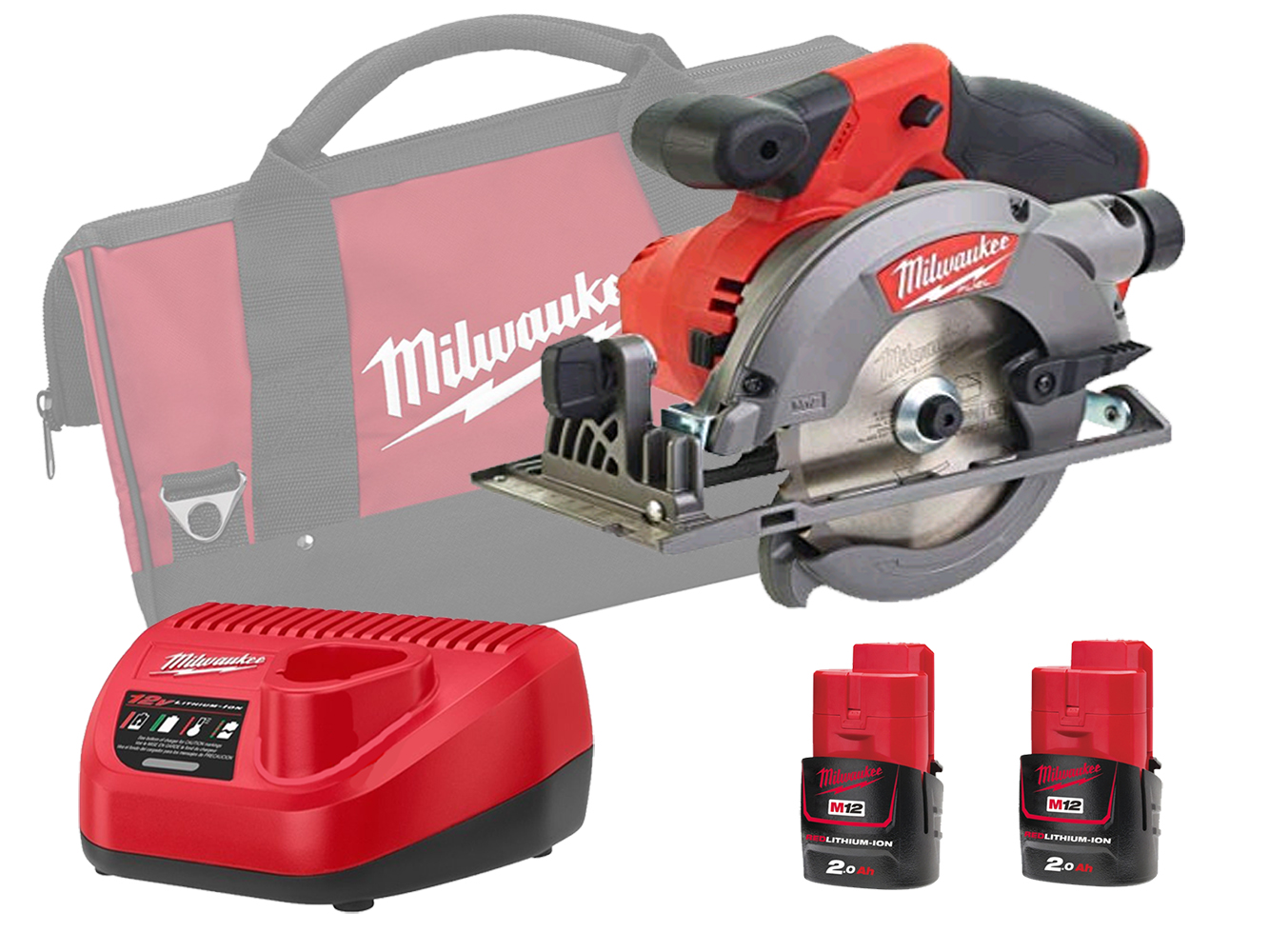 Milwaukee M12CCS44 12V Sub Compact 140mm (44mm) Circular Saw Brushless - 2.0ah Pack
