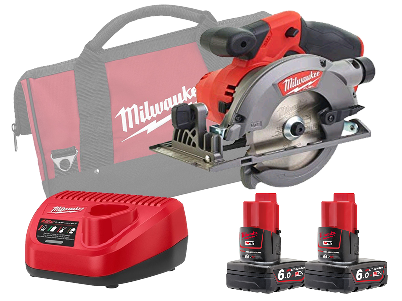 Milwaukee M12CCS44 12V Sub Compact 140mm (44mm) Circular Saw Brushless - 6.0ah Pack