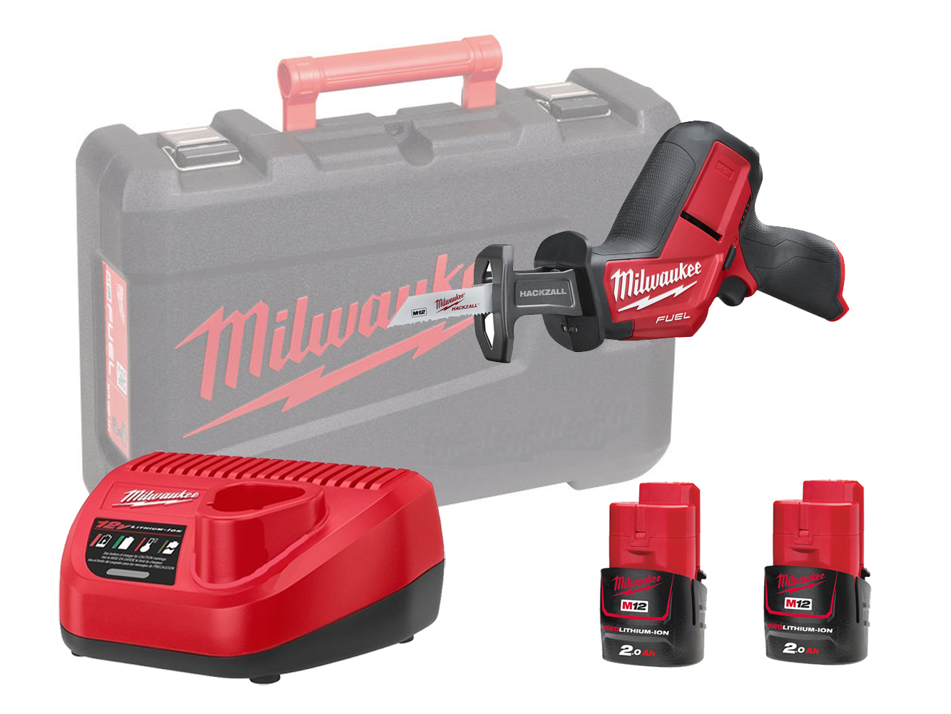 Milwaukee M12CHZ 12V FUEL Sub Compact Hackzall (Reciprocating Saw) - 2.0ah Pack