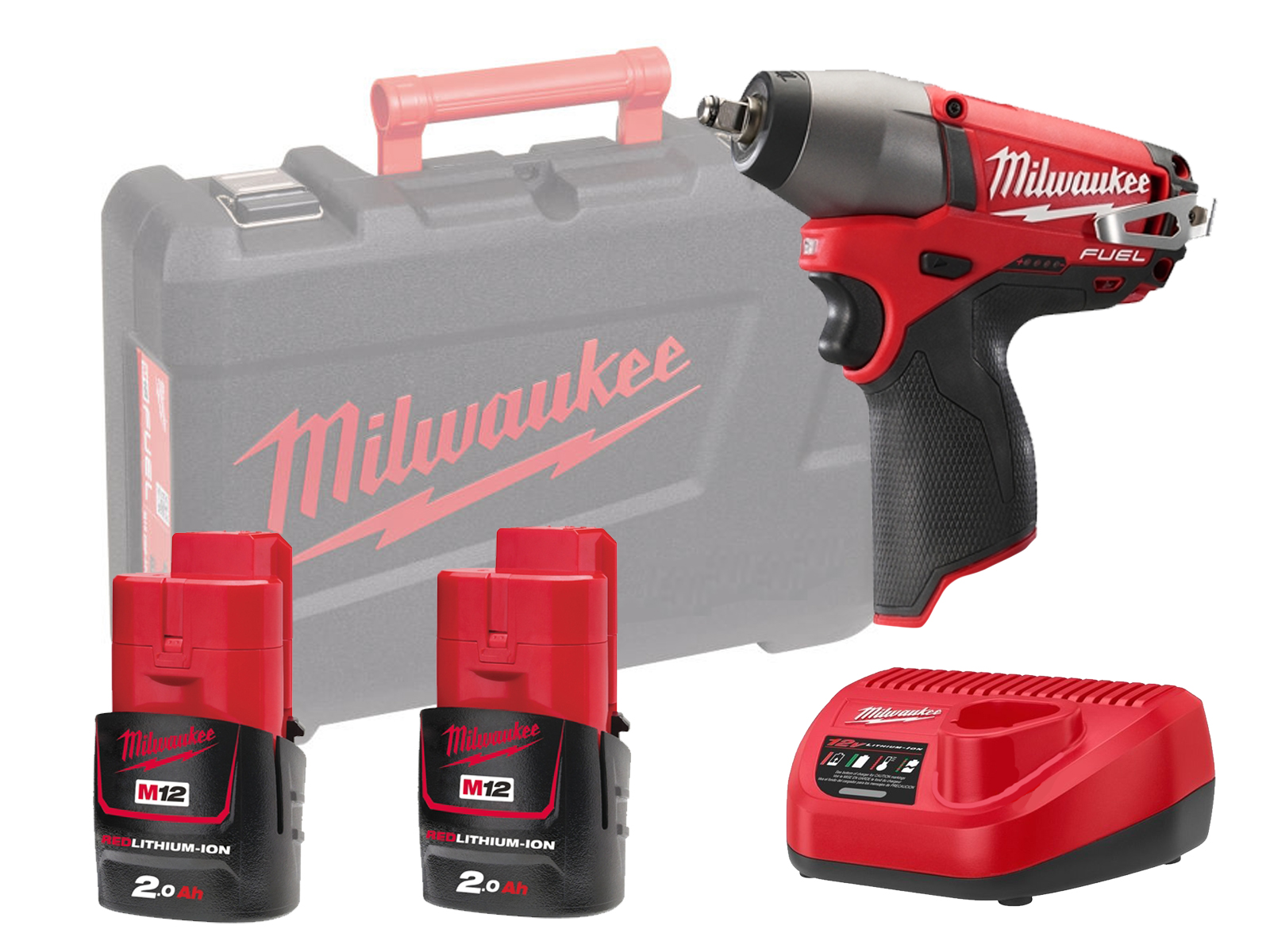 "MILWAUKEE 12V FUEL BRUSHLESS IMPACT WRENCH 1/2"" - M12CIW12 - 2.0AH PACK"