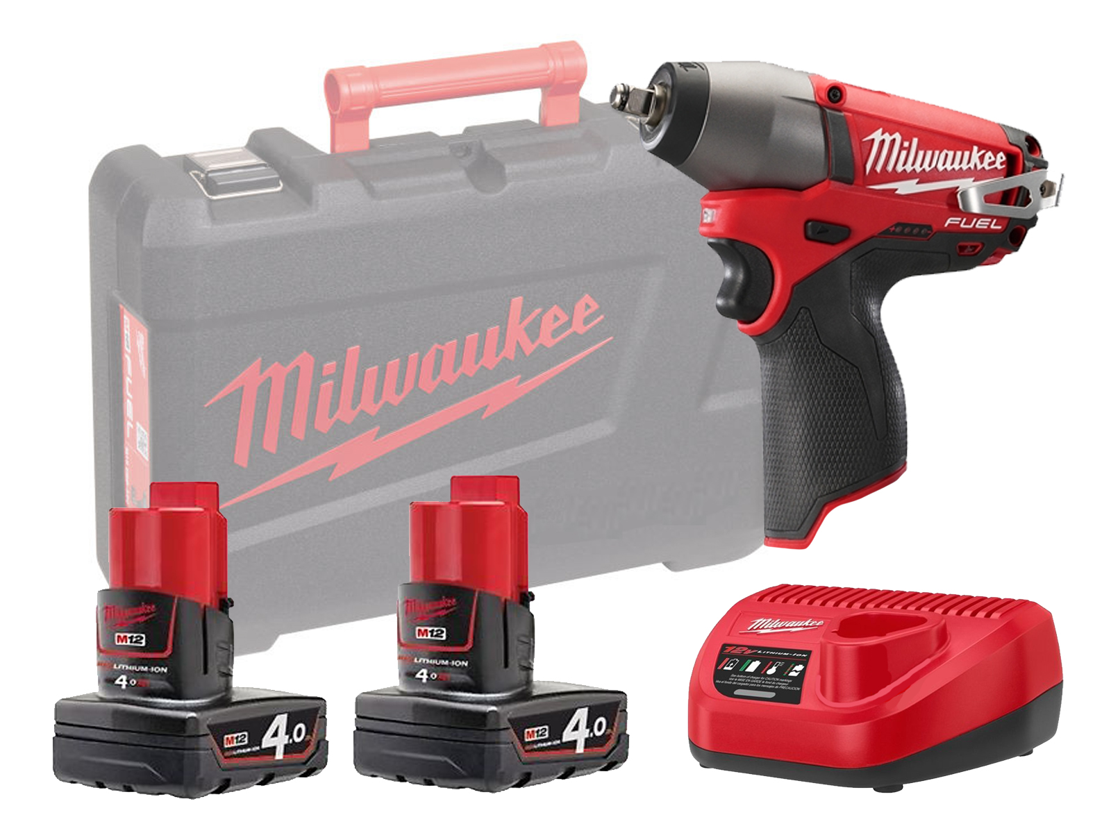 "MILWAUKEE 12V FUEL IMPACT WRENCH 1/2"" - M12CIW12 - 4.0AH PACK"