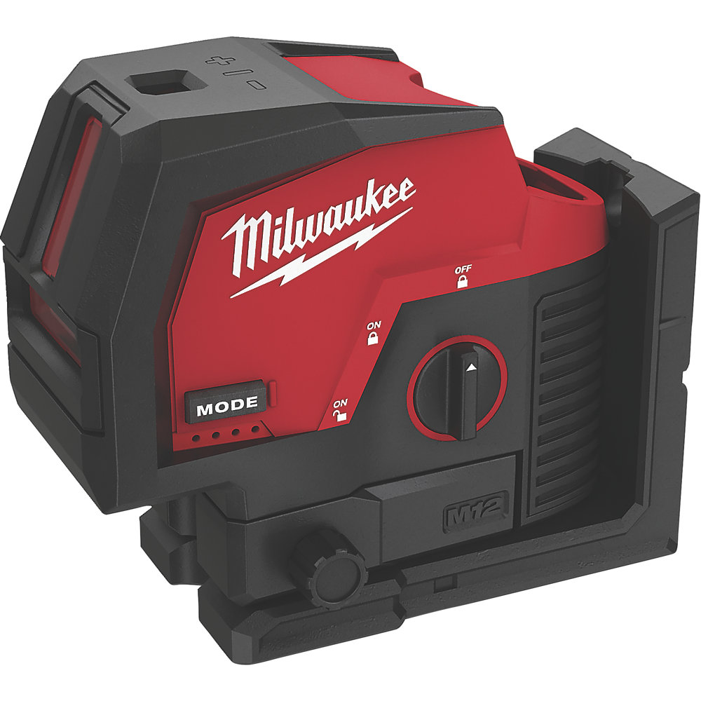 Milwaukee 12V Green Cross Line Laser & Plum Points - M12CLLP - Body Only