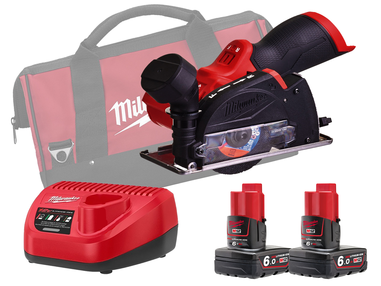 Milwaukee M12FCOT 12V Fuel Sub Compact Multi-Material Cut-Off Tool - 6.0Ah Pack