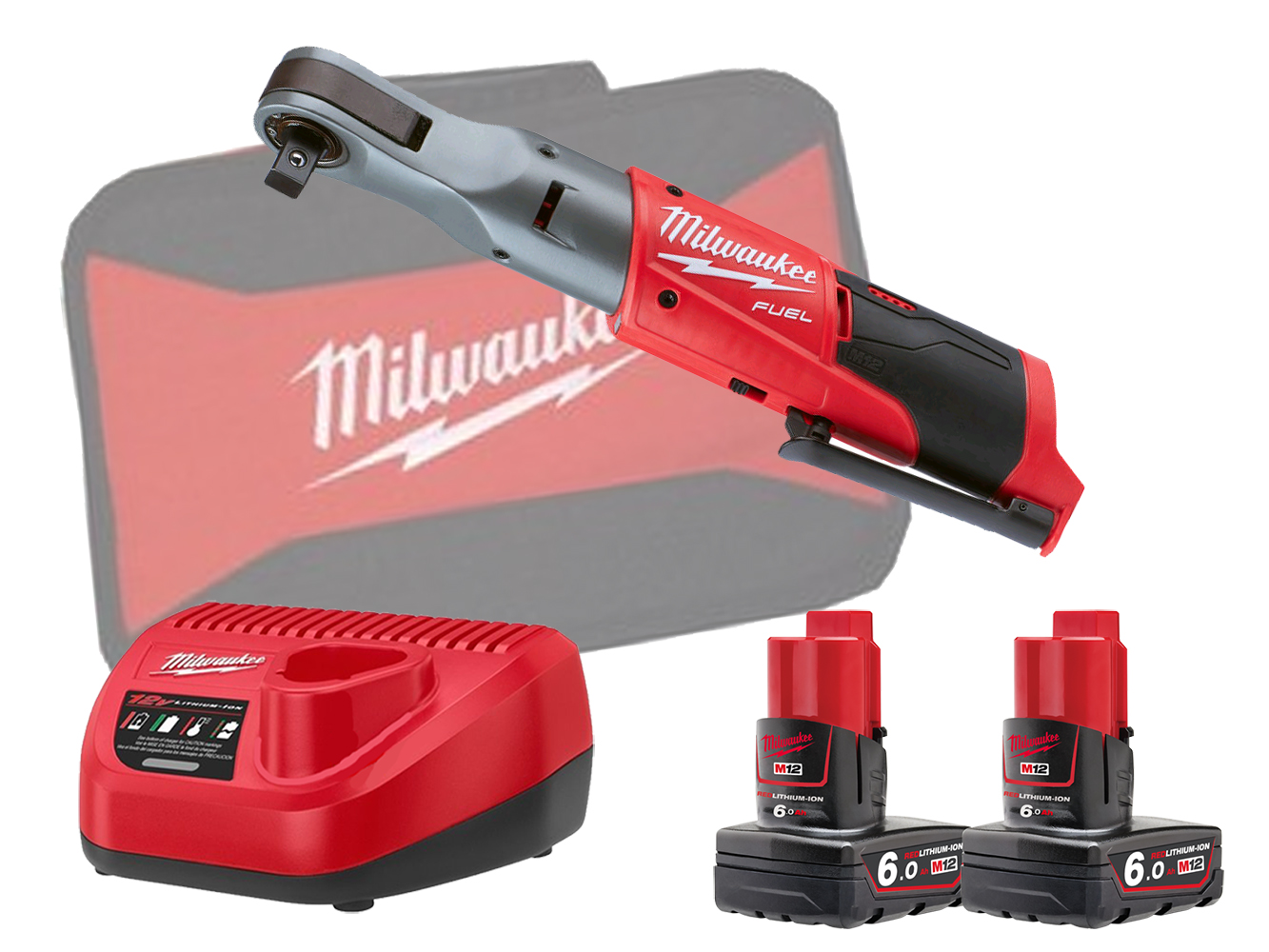 "MILWAUKEE 12V FUEL BRUSHLESS 1/2"" IMPACT RATCHET - M12FIR12 - 6.0AH PACK"