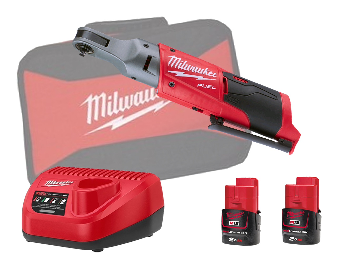 Milwaukee M12FIR14 12V Fuel Brushless 1/4In Impact Ratchet - 2.0Ah Pack