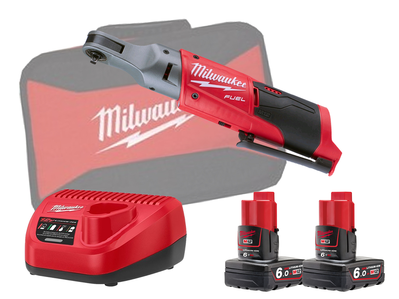 Milwaukee M12FIR14 12V Fuel Brushless 1/4In Impact Ratchet - 6.0Ah Pack