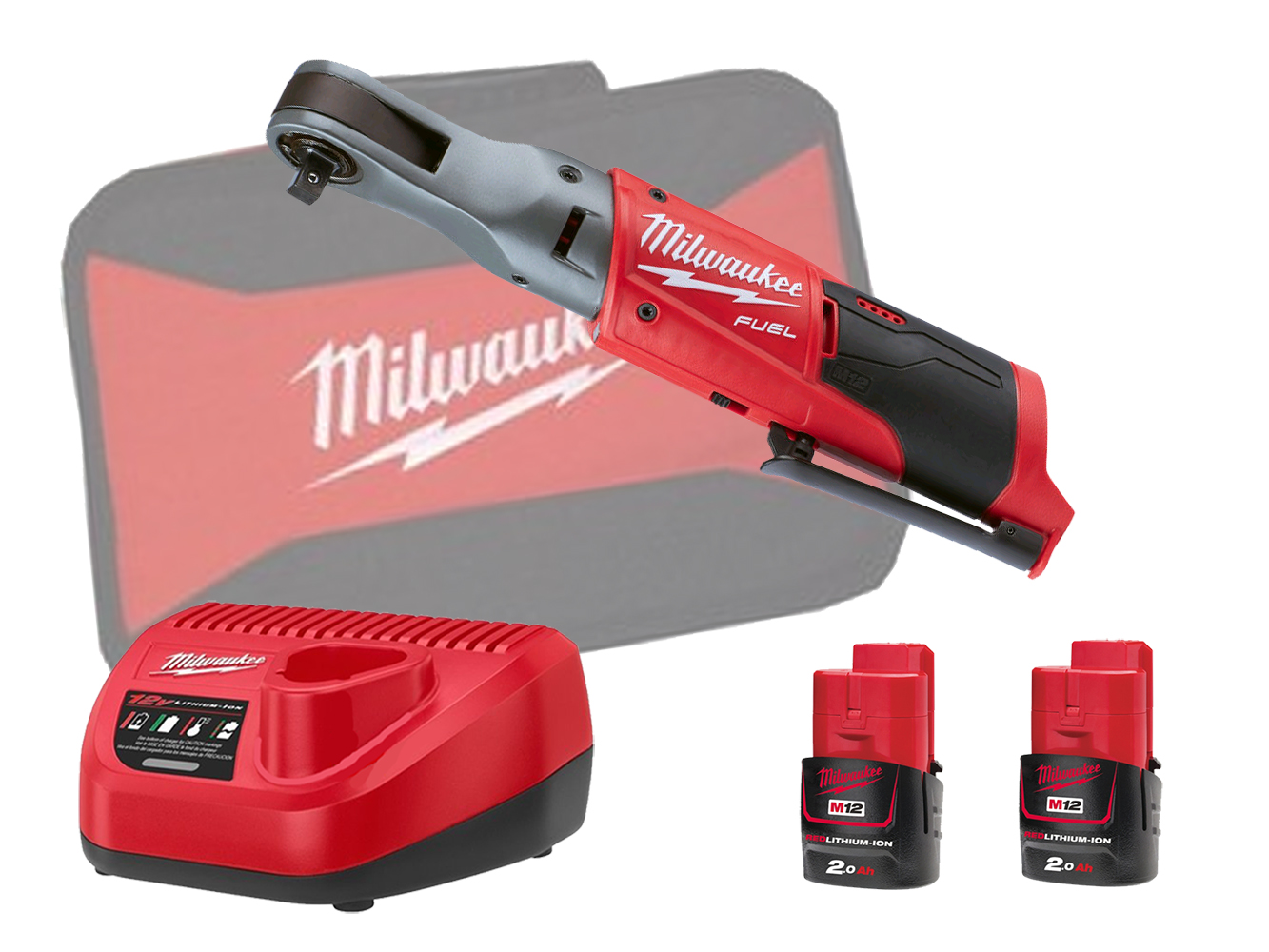 Milwaukee M12FIR38 12V Fuel Brushless 3/8In Impact Ratchet - 2.0Ah Pack