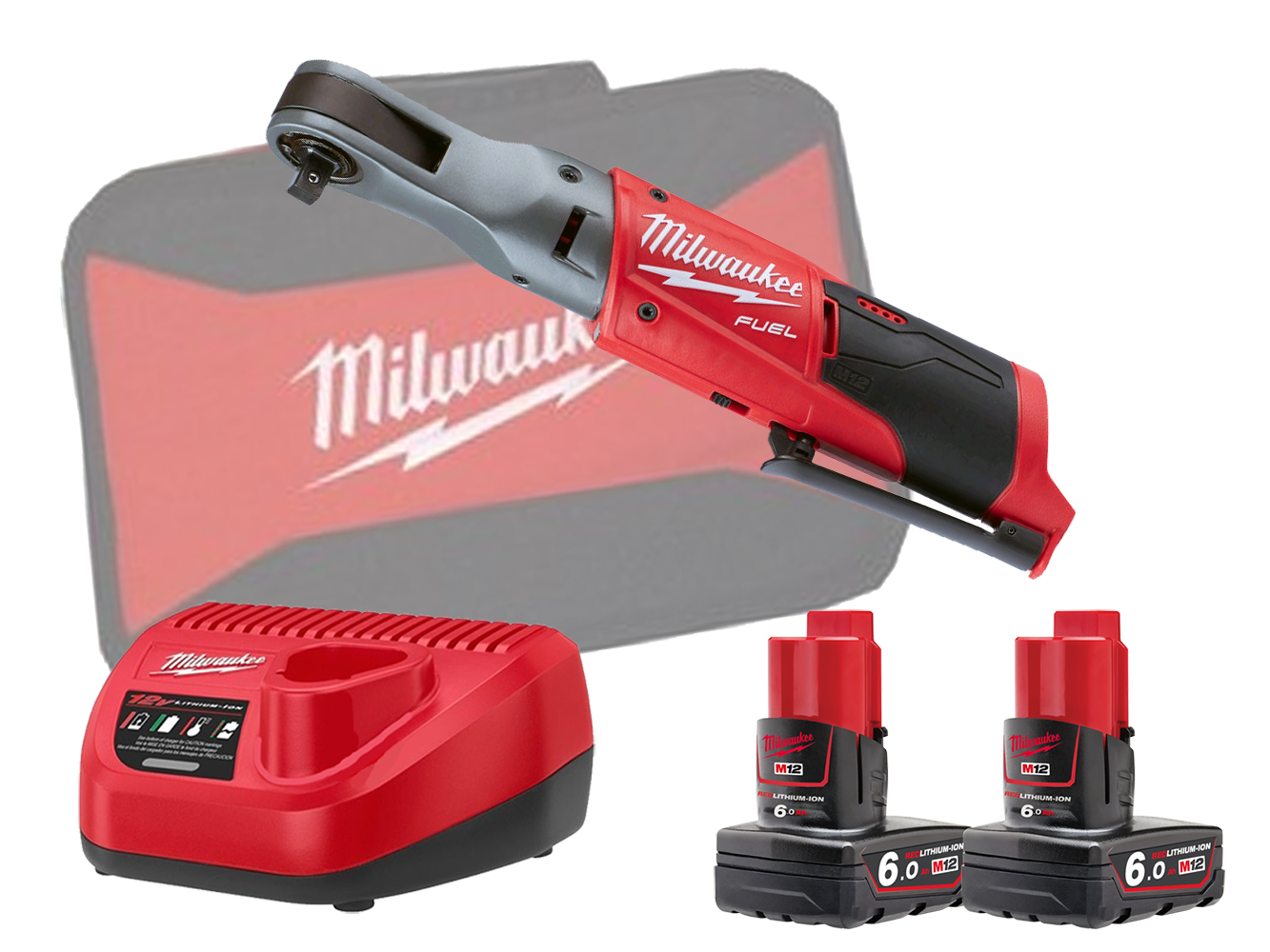 Milwaukee M12FIR38 12V Fuel Brushless 3/8In Impact Ratchet - 6.0Ah Pack