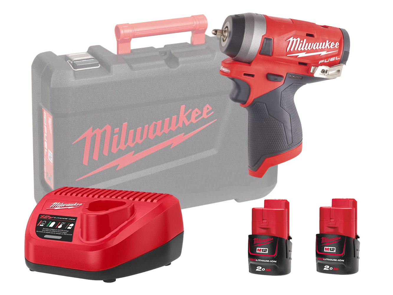 Milwaukee M12FIW14 12V Fuel Compact Impact Wrench 1/4In - 2.0Ah Pack