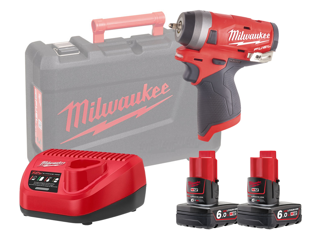 Milwaukee M12FIW14 12V Fuel Compact Impact Wrench 1/4In - 6.0Ah Pack