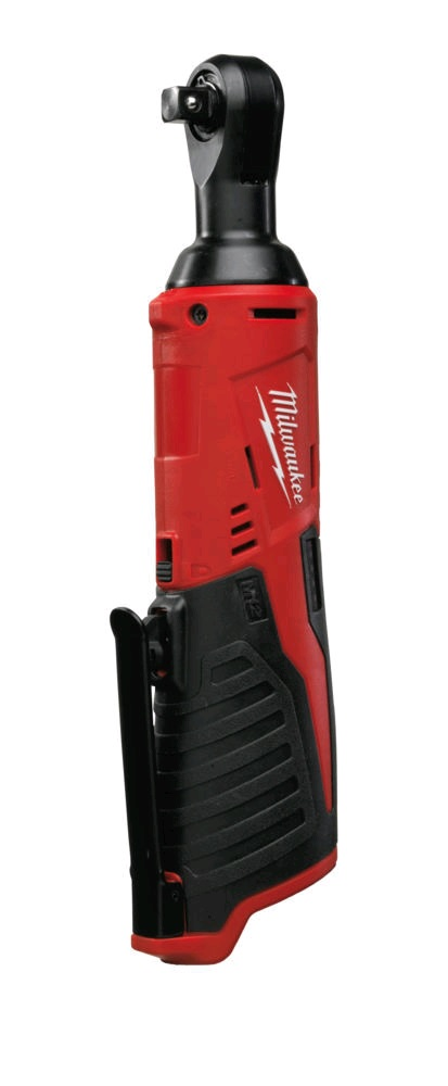 Milwaukee M12IR38 12V 3/8in Angled Impact Ratchet & 1/4in Adapter - Body Only