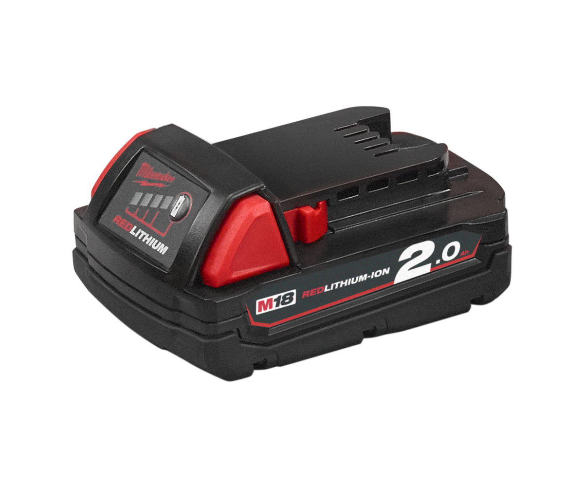 MILWAUKEE 18V 2.0AH RED LITHIUM-ION BATTERY - M18B2