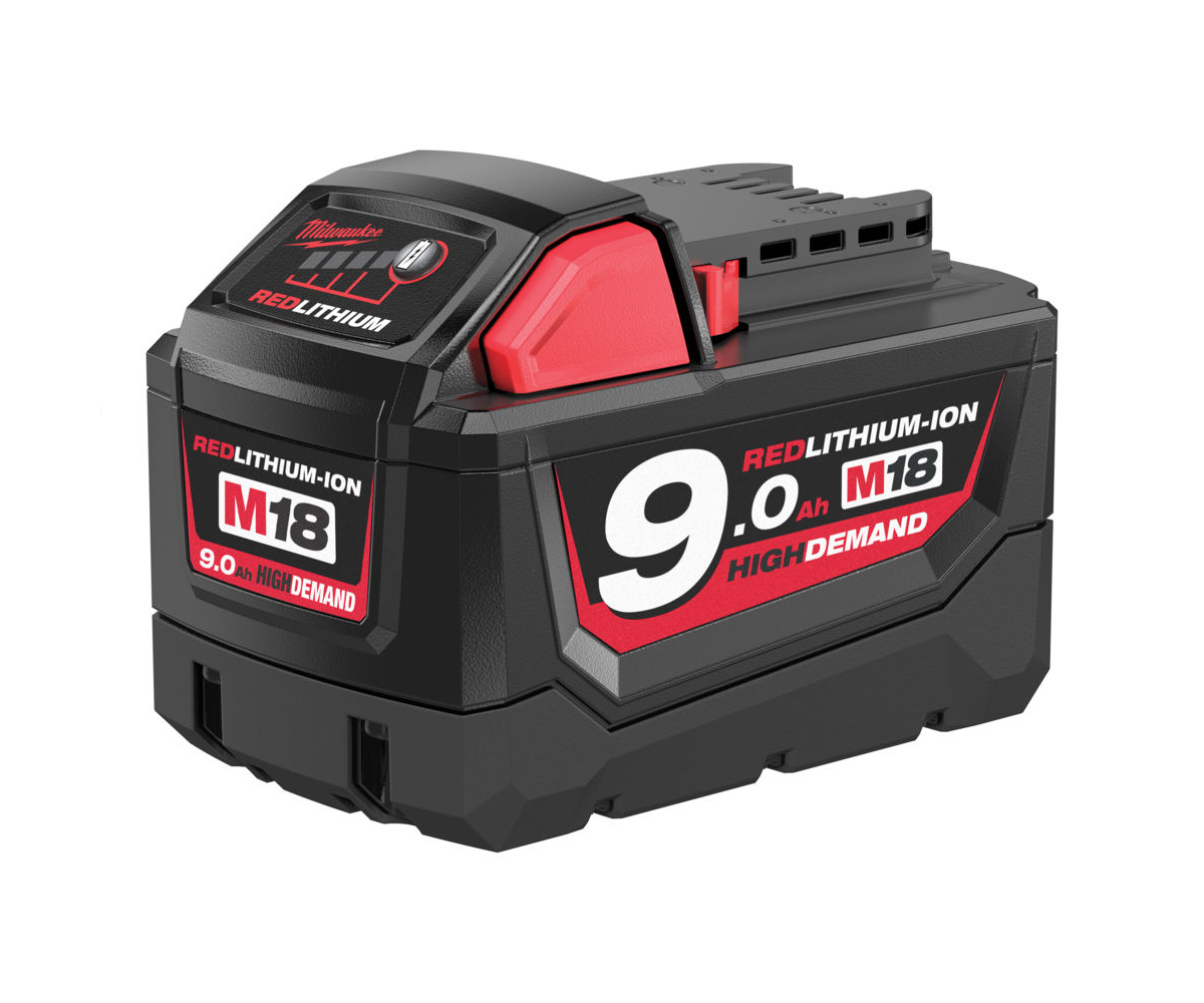 MILWAUKEE 18V 9.0AH RED LITHIUM-ION BATTERY - M18B9