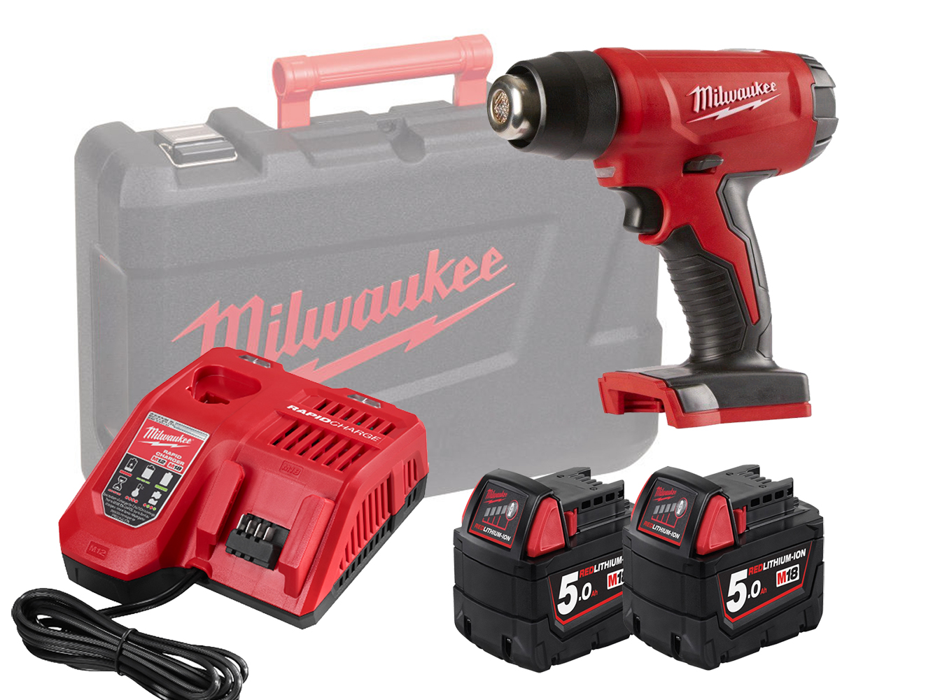MILWAUKEE 18V FUEL BRUSHLESS HEAT GUN - M18BHG - 5.0AH PACK