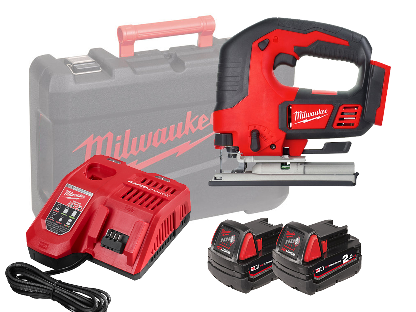 MILWAUKEE 18V HEAVY-DUTY TOP HANDLE JIGSAW - M18BJS - 2.0AH PACK