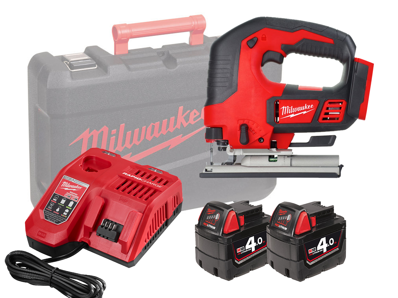 MILWAUKEE 18V HEAVY-DUTY TOP HANDLE JIGSAW - M18BJS - 4.0AH PACK