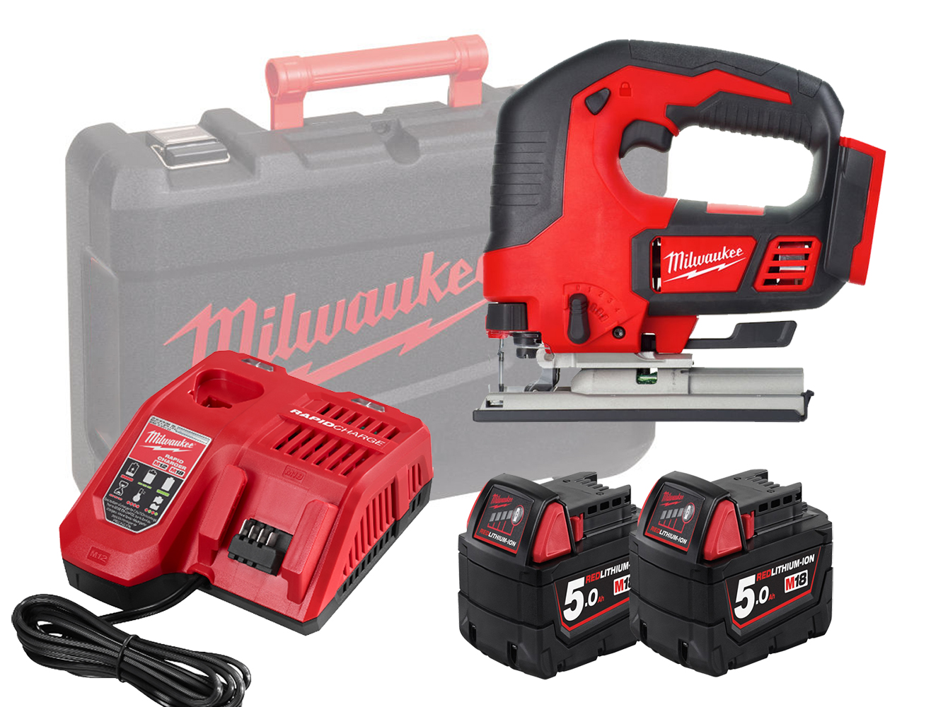 MILWAUKEE 18V HEAVY-DUTY TOP HANDLE JIGSAW - M18BJS - 5.0AH PACK