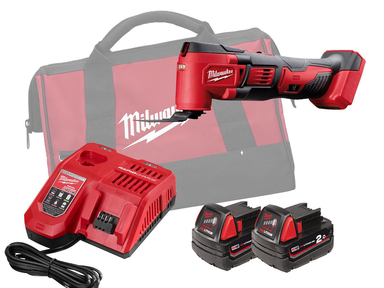MILWAUKEE 18V BRUSHED QUICK-RELEASE MULTI TOOL - M18BMT - 2.0AH PACK