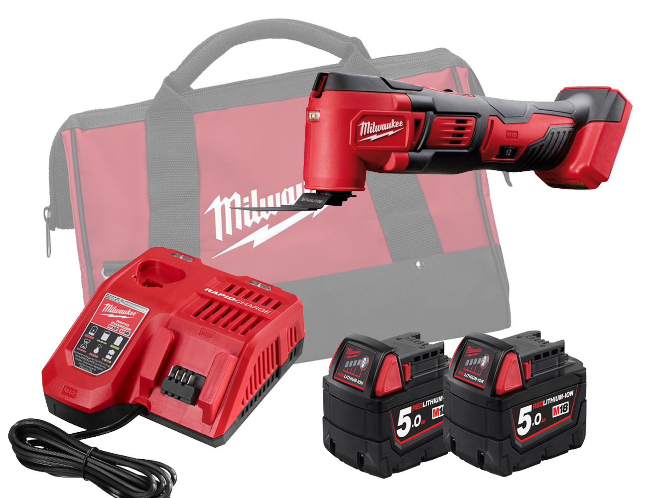 MILWAUKEE 18V BRUSHED QUICK-RELEASE MULTI TOOL - M18BMT - 5.0AH PACK