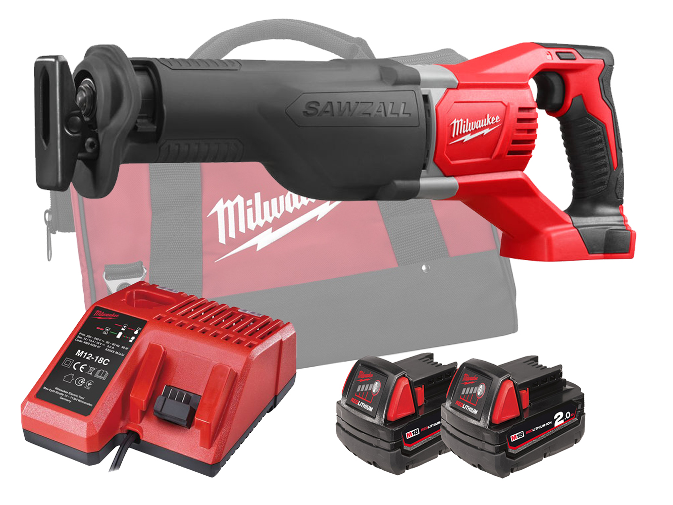 MILWAUKEE 18V BRUSHED SAWZALL (RECIPROCATING SAW) - M18BSX - 2.0AH PACK