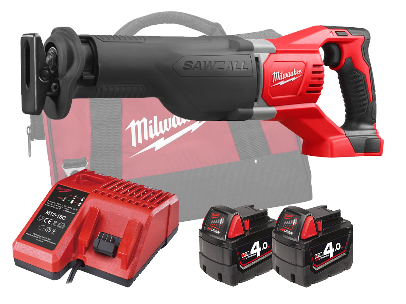 MILWAUKEE 18V BRUSHED SAWZALL (RECIPROCATING SAW) - M18BSX - 4.0AH PACK