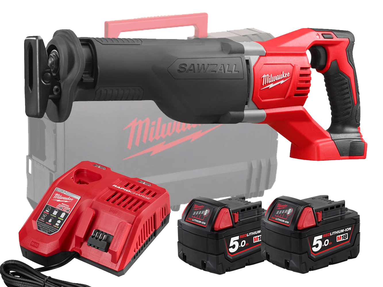Milwaukee M18BSX 18V Brushed Sawzall (Reciprocating Saw) - 5.0ah Pack