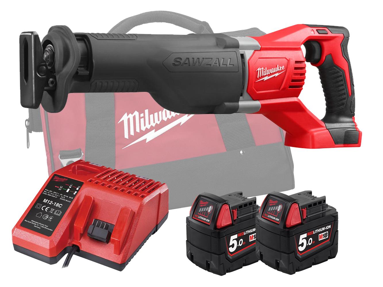 MILWAUKEE 18V BRUSHED SAWZALL (RECIPROCATING SAW) - M18BSX - 5.0AH PACK
