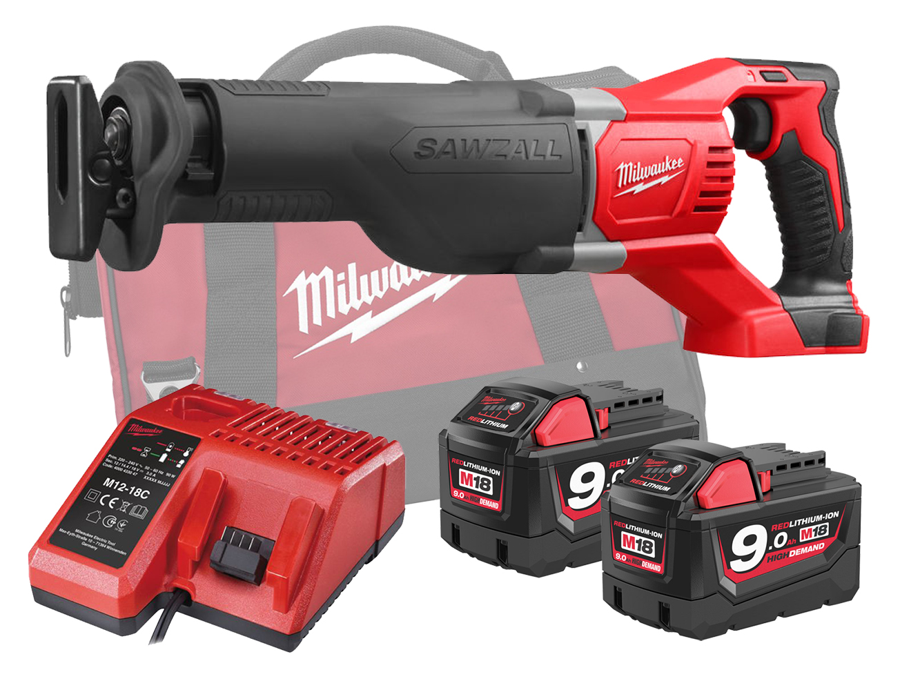 MILWAUKEE 18V BRUSHED SAWZALL (RECIPROCATING SAW) - M18BSX - 9.0AH PACK
