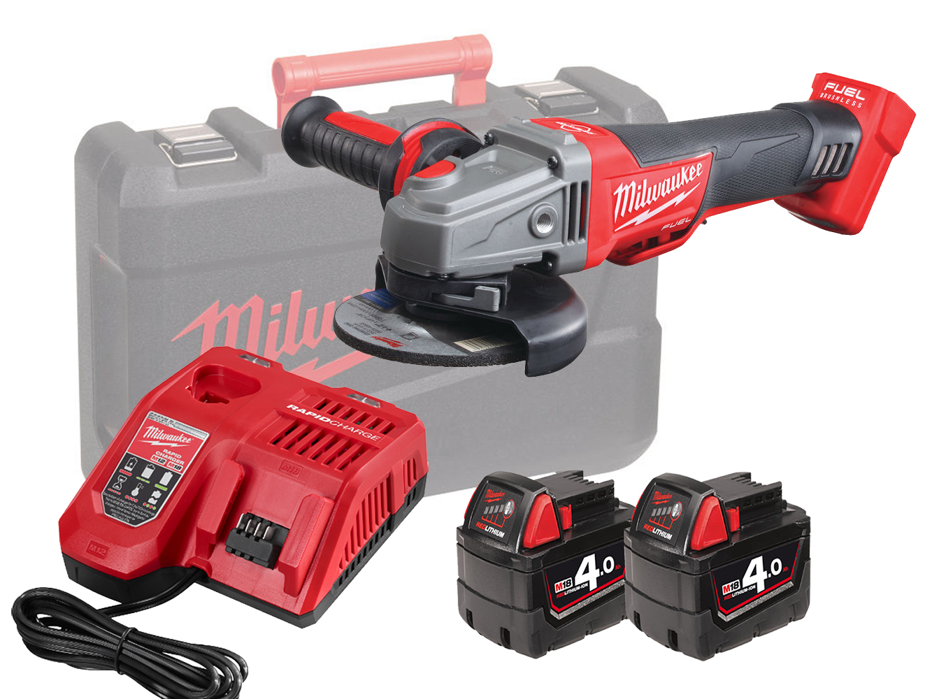 MILWAUKEE 18V FUEL 115MM BREAKING GRINDER -  M18CAG115XPDB - 4.0AH PACK