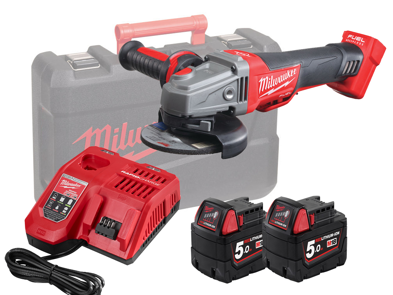 MILWAUKEE 18V FUEL 115MM BREAKING GRINDER -  M18CAG115XPDB - 5.0AH PACK