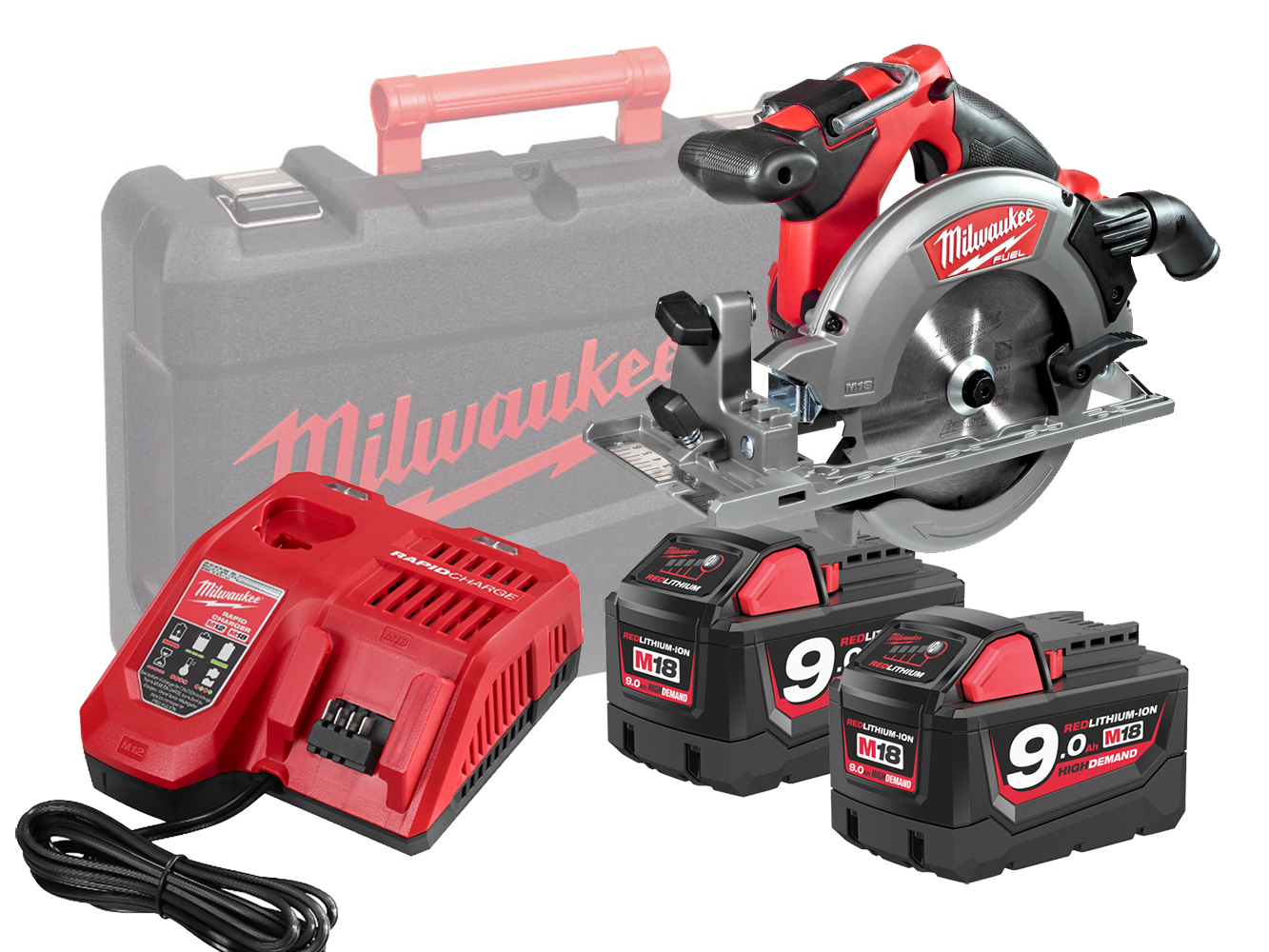Milwaukee M18CCS55 18V FUEL 165mm (55mm) Circular Saw for Wood and Plastics - 9.0ah Pack
