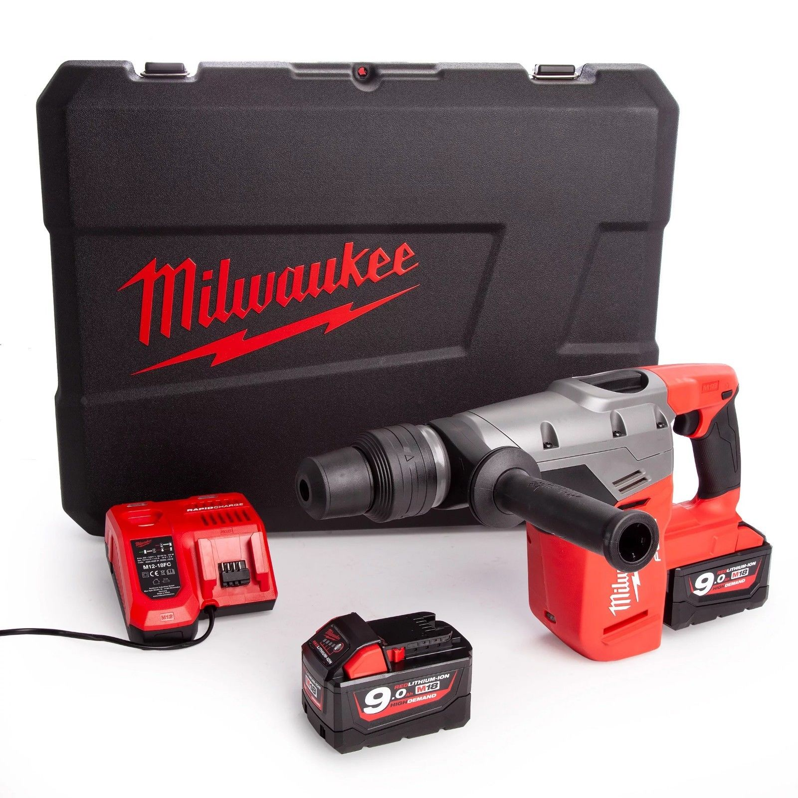MILWAUKEE 18V FUEL BRUSHLESS SDS MAX 3-MODE HAMMER - M18CHM - 9.0AH PACK