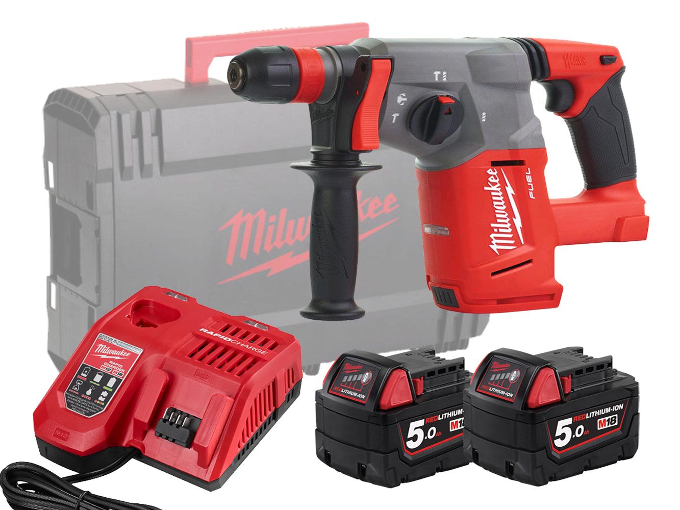 Milwaukee M18CHX 18V Fuel Brushless SDS+ 3-Mode Hammer Drill - 5.0Ah Pack