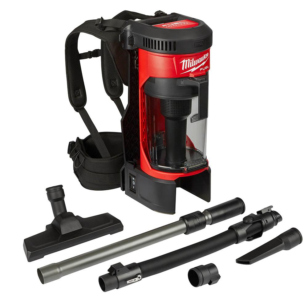 MILWAUKEE 18V FUEL BRUSHLESS BACKPACK VACUUM & ACCESSORIES - M18FBPV - BODY ONLY