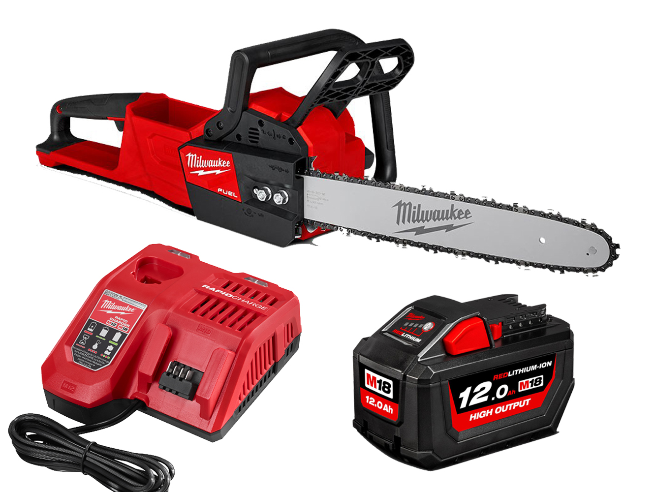 Milwaukee M18FCHS 18V Fuel Brushless 16In 400mm Chainsaw - 12.0Ah Pack