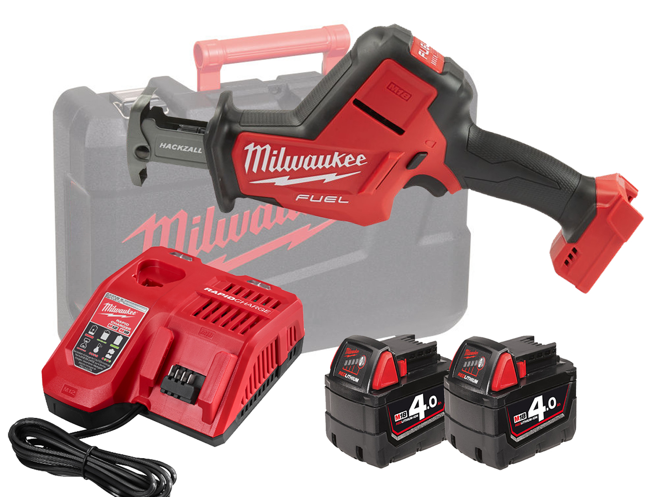 Milwaukee M18FHZ 18V FUEL Brushless Hackzall (Reciprocating Saw) - 4.0ah Pack