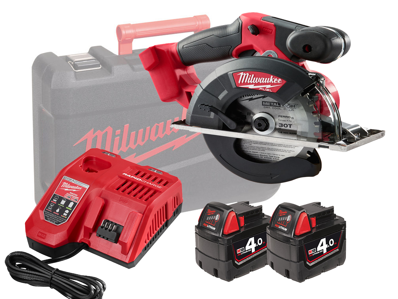 Milwaukee M18FMCS 18V FUEL 150mm (57mm) Metal Circular Saw - 4.0ah Pack