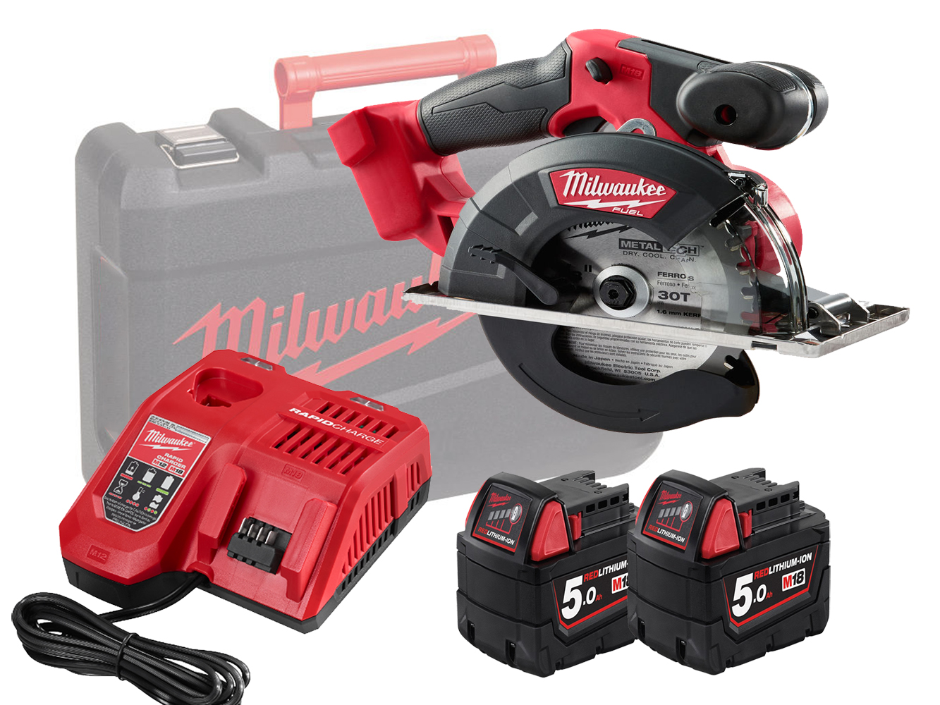 Milwaukee M18FMCS 18V FUEL 150mm (57mm) Metal Circular Saw - 5.0ah Pack