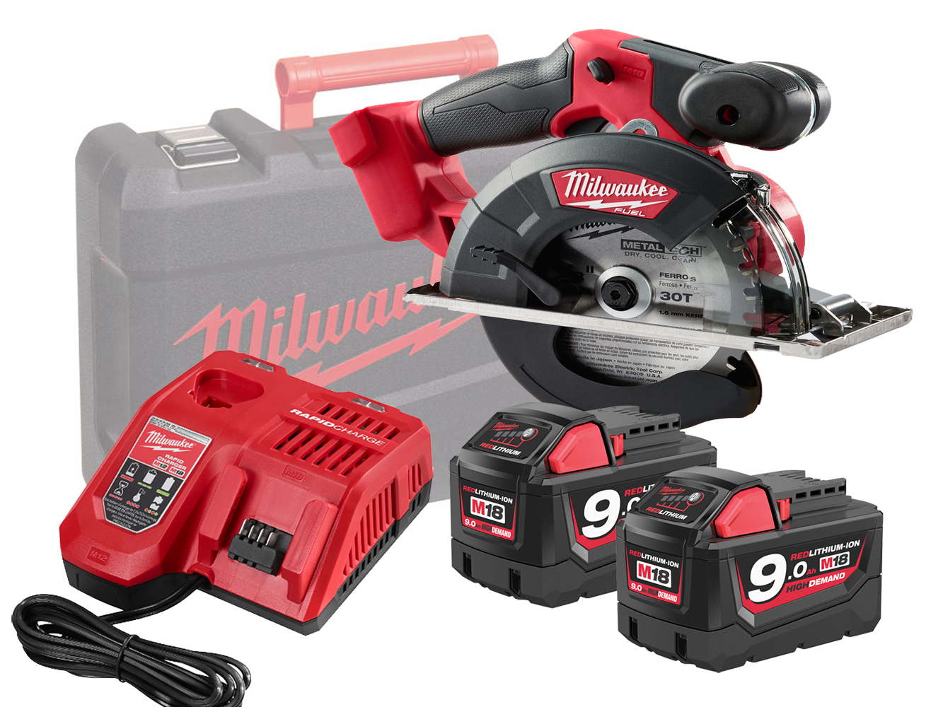 Milwaukee M18FMCS 18V FUEL 150mm (57mm) Metal Circular Saw - 9.0ah Pack